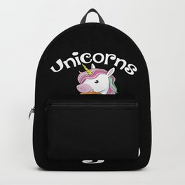 Unicorn Statement: Unicorns Are Vegan I Vegetable I Carrot I Gift Backpack