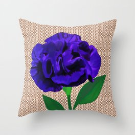 Bloomin' Violet Throw Pillow