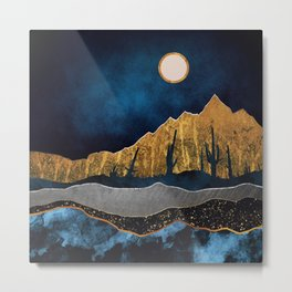 Midnight Desert Moon Metal Print