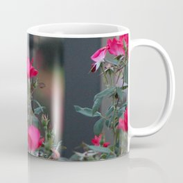 Cold Iron and Soft Pink Petals Coffee Mug