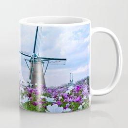 Windmill and Tulips Coffee Mug