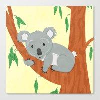 koala Canvas Prints featuring Koala by Claire Lordon