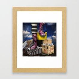 Stomp Framed Art Print