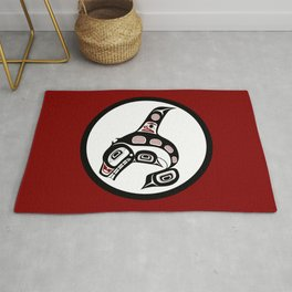 Northwest Pacific coast Haida art Killer whale Rug