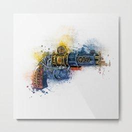 Steampunk Gun Metal Print
