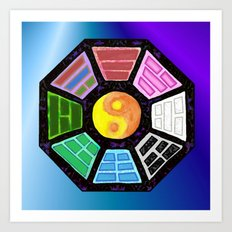 Painted Bagua Art Print