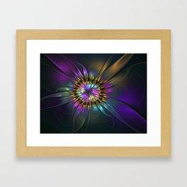 Fantasy Flower Fractal Framed Art Print