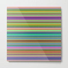 Summer Stripes – Clock 2 - Living Hell Metal Print