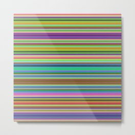 Summer Stripes – Clock 2 - Living Hell Metal Print