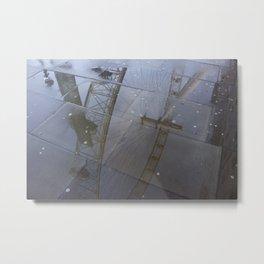 London eye puddle Metal Print