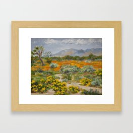 California Poppies and Wildflowers Framed Art Print