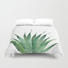 Tropical Palm Leaf #4 | Watercolor Painting Duvet Cover