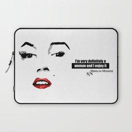 marilyn black and white art design Laptop Sleeve