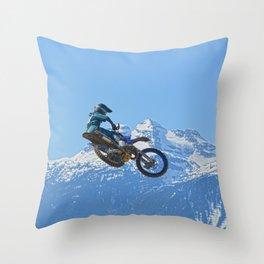 Revelstoke Ride - MotoX Racing in British Columbia Throw Pillow