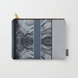 Marbled Smoky Blue Stripes Carry-All Pouch
