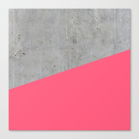 Concrete and pink Canvas Print