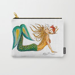 Mermaid Yoga Up Dog Pose Carry-All Pouch