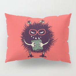 Evil Bug Student Loves To Read Pillow Sham
