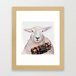 Sheep Fashionista Framed Art Print