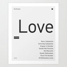 Valentine's gift. Love Art Print