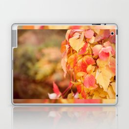vine red yellow leaves abstract Laptop & iPad Skin