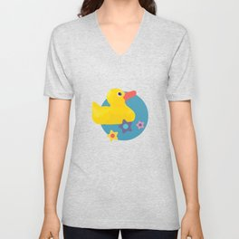 Rubber Duckies Unisex V-Neck