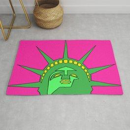 statue of liberty poster, statue of liberty pop art, graphic art, graphic minimalist art, Rug