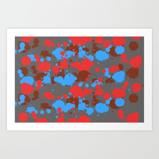 color dripping Art Print