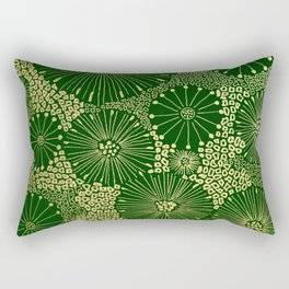 gold dandilion burst Rectangular Pillow