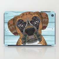 boxer iPad Cases featuring Cute Boxer by ArtLovePassion