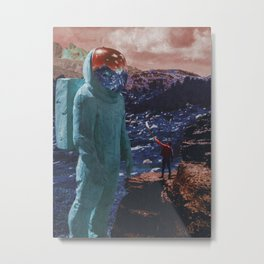 Man and Giant Metal Print