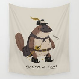 platypus in boots Wall Tapestry