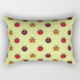 Lady Bug Yellow Rectangular Pillow