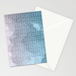 Geometric Aquarelle Stationery Cards