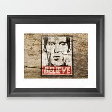 BELIEVE (Obey Giant X Twin Peaks) Framed Art Print