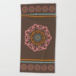 Aztec Mandala Beach Towel