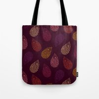 paisley Tote Bags featuring Paisley by Vlada Young