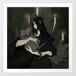 Cerberus and Hades Art Print