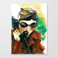 amelie Canvas Prints featuring Amelie by Gra Pereira
