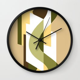 SUISSE - Art Deco Modern: LATE AUTUMN Wall Clock