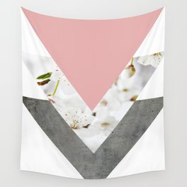 Blossoms Arrows Collage Wall Tapestry