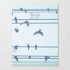 Bird Line Canvas Print