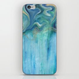 Blue and Green Swirls iPhone Skin