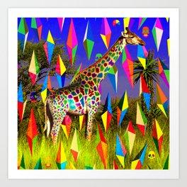 Groovy Giraffe  Art Print