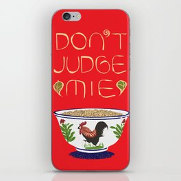 Don't Judge Mie iPhone Skin