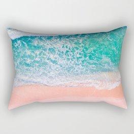 Pink Sands Turquoise Water Caribbean Dream Rectangular Pillow