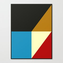 Mid Century Geometric A Canvas Print
