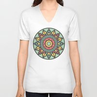 aztec V-neck T-shirts featuring Aztec by Phlauder