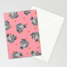 Roses and Dots Stationery Cards