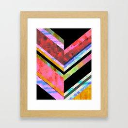 Hana Chevron Framed Art Print